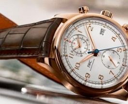 IWC Portuguese Chronograph IW371480 With Rose Gold Case Replica
