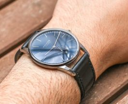 Limited Edition Watch Series:Nomos Orion Midnight With Blue Dial Leather Strap Watches