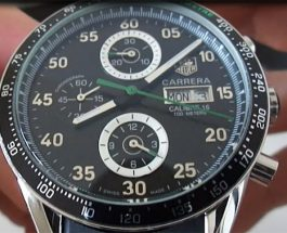 Tag Heuer Carrera Calibre 16 Day-Date With Black Dial Men's Replica Watch