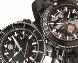 VERSACE V-Race DIVER With Unidirectional Rotational Divers Bezel