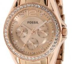 Hands On Replica Fossil Quartz Rosegold Gem Dial Rose gold Band – Women's Watch ES2811