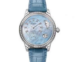 Glashütte Original  Panomatic Luna With Blue Mother-of-pearl Dial Replica